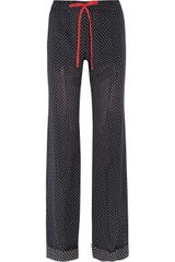 Joseph Polka-dot Silk georgette Pants - Lyst