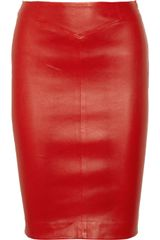 Joseph Stretch Leather Pencil Skirt