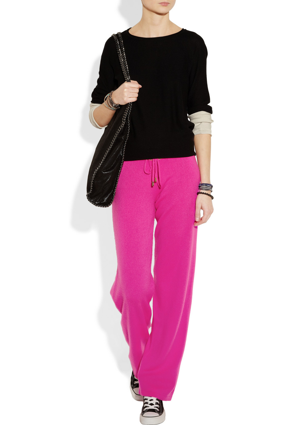 Juicy couture cashmere track pants in pink lyst for Couture garments