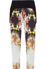 Just Cavalli Printed Pants - Lyst