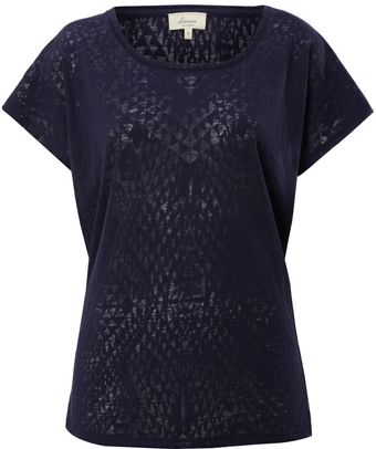Linea Weekend Ladies Tribal Burnout Jersey T-shirt - Lyst