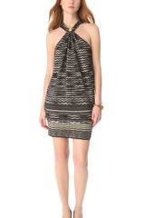 M Missoni Metallic Zig Zag Dress - Lyst