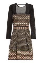M Missoni Cut out Knitted Dress - Lyst