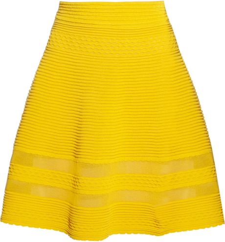 M Missoni Cottonblend Aline Skirt in Yellow - Lyst