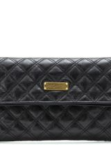 Marc Jacobs Large Eugenie Quilted Leather Clutch - Lyst