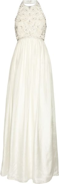 Matthew Williamson Crystal and Faux Pearl Embellished Silk Gown - Lyst