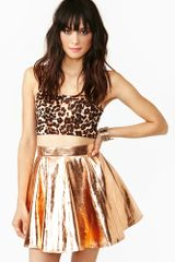 Nasty Gal Metallic Skirt - Lyst
