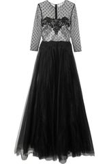 Notte By Marchesa Lace and Tulle Gown - Lyst