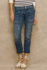 Blue Label Slim Boyfriend Jean - Lyst