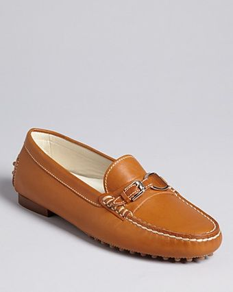 Ralph Lauren Collection Driving Moccasin Flats Dastia - Lyst