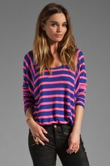 Splendid Pop Stripe Thermal Top - Lyst