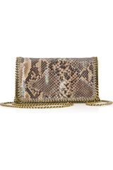 Stella McCartney The Falabella Python Effect Faux Leather Shoulder Bag - Lyst