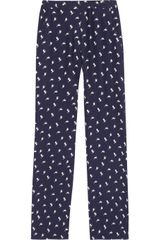 Theory Mitrana Bird Print Silk Pants - Lyst