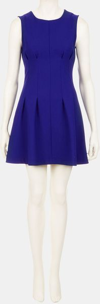Topshop Seamed Waist Party Dress - Lyst
