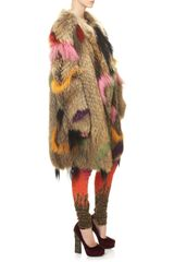 Wunderkind Dip Dyed Fur Coat in Multicolor (multi) - Lyst