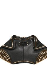 Alexander McQueen Gold Studs Leather Demanta Clutch