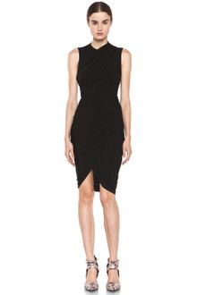 Alexander Wang Sleeveless Gathered Dress - Lyst