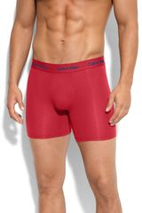 Calvin Klein Micro Modal Boxer Briefs in Red for Men (brilliant red) - Lyst