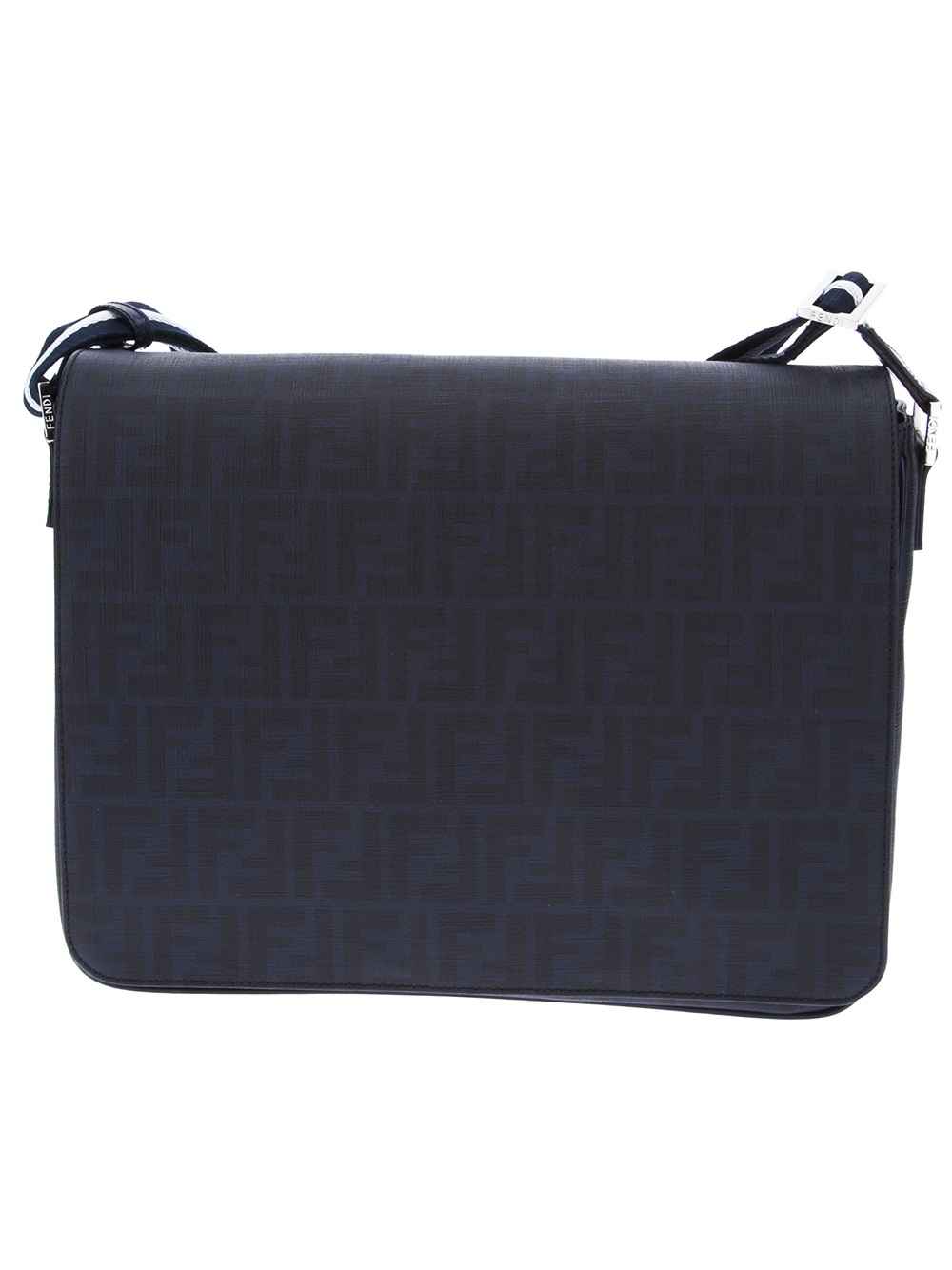 5e5505c0626 Fendi Zucca Forever Messenger Bag in Blue for Men - Lyst