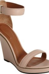 Givenchy Zipper Trim Wedge Sandal
