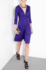 Issa Indigo Gather Waist Silk Jersey Dress in Purple (indigo) - Lyst