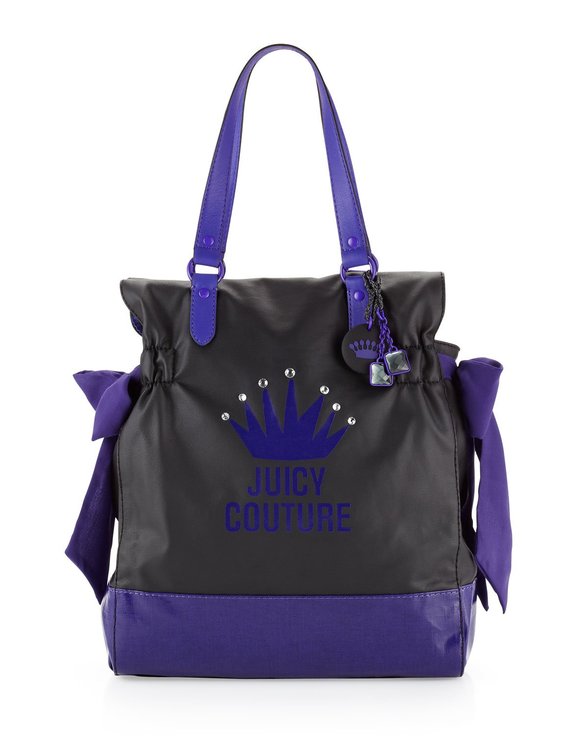 juicy couture canvas tote bag in purple black lyst. Black Bedroom Furniture Sets. Home Design Ideas
