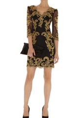 Karen Millen Baroque Mesh Dress - Lyst
