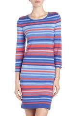 Michael by Michael Kors Striped Sweater Dress - Lyst