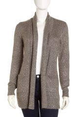 Michael by Michael Kors Sequin Knit Cardigan - Lyst