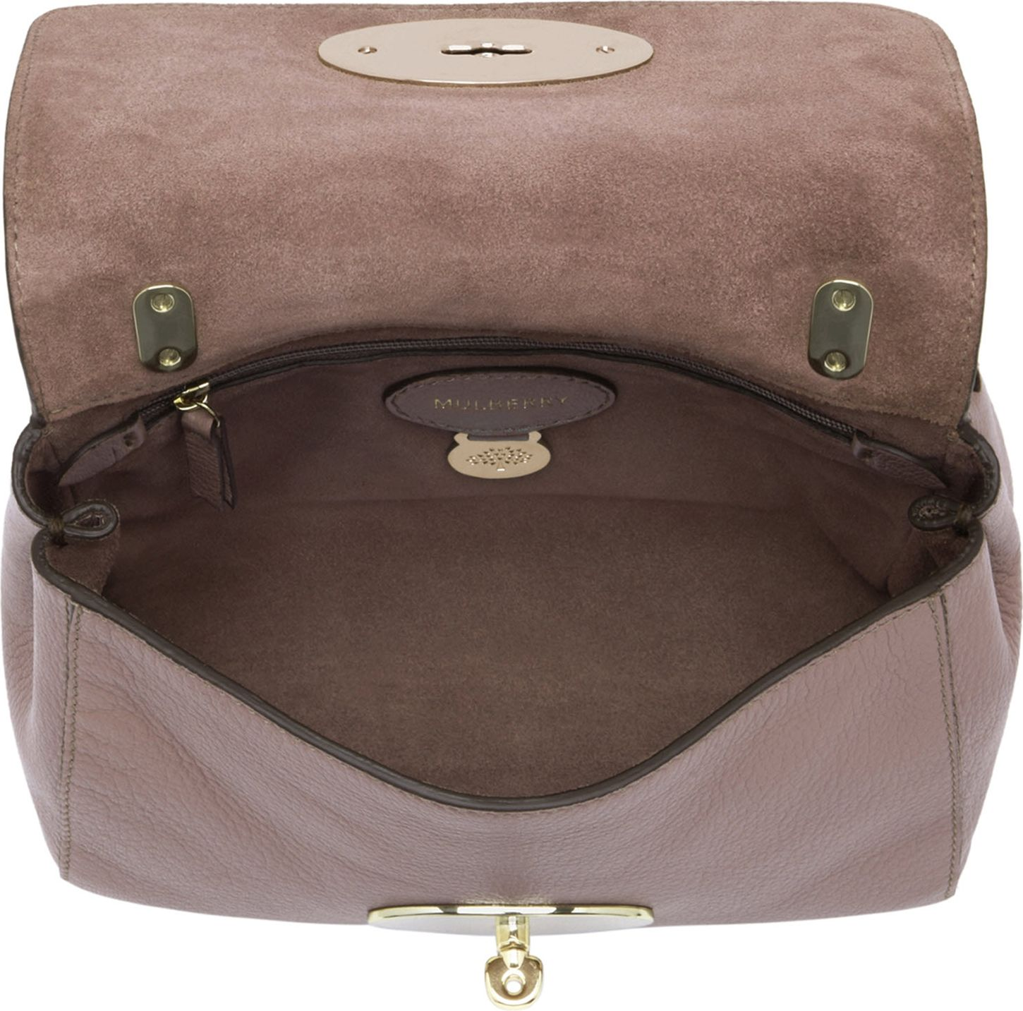 62108f475a87 ... france lily mulberry lyst mulberry lily glossy goat leather shoulder  bag in pink 5d1b7 74eef