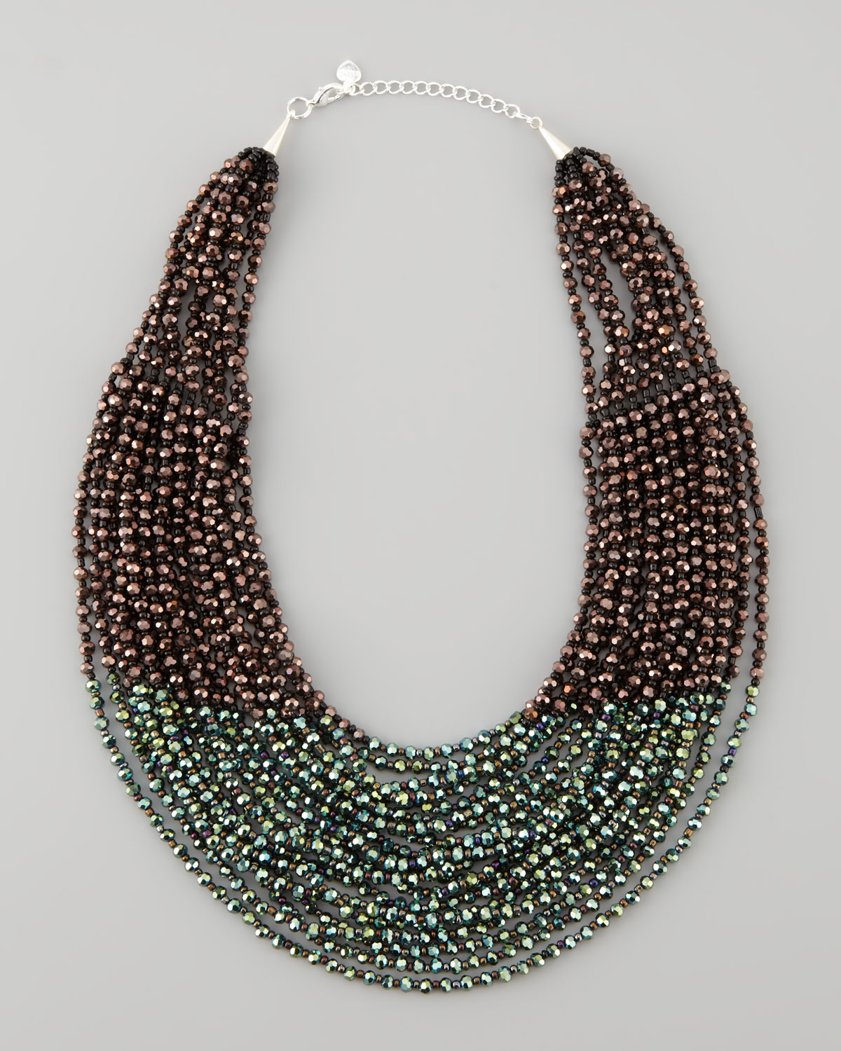 rising international multi blue strand necklace product
