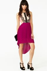 Nasty Gal Laced Color Block Dress - Lyst