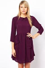 ASOS Collection Asos Smock Dress with Pockets and Collar - Lyst