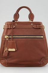 Burberry Medium Leather Tote Bag Dark Tan - Lyst