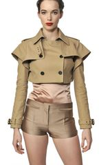 Burberry Prorsum Cotton Gabardine Jacket - Lyst