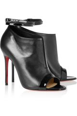 Christian Louboutin Diptic 100 Leather Ankle Boots - Lyst