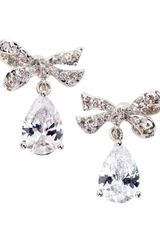 Cz By Kenneth Jay Lane  Pave Bow Drop Earrings - Lyst