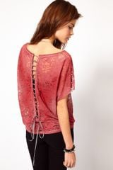 Diesel Lace Tshirt with Laced Back - Lyst