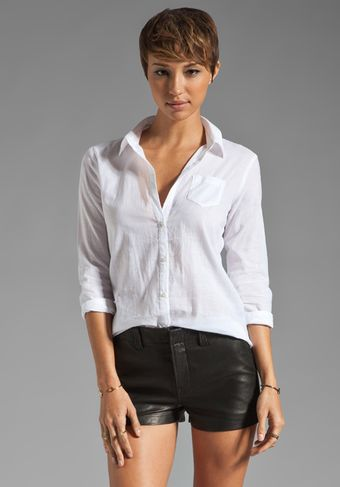 Elizabeth And James Textured Cohen Shirt - Lyst