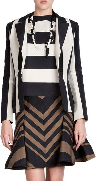 Lanvin Twotone Striped Jacket - Lyst