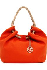 Michael by Michael Kors Large Marina Canvas Shoulder Tote Bag - Lyst