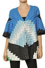 Missoni Lurex Viscose Cupro Knit Coat - Lyst