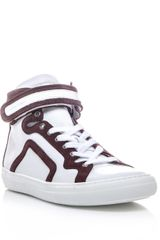 Pierre Hardy Perforated Leather Hightop Trainers - Lyst