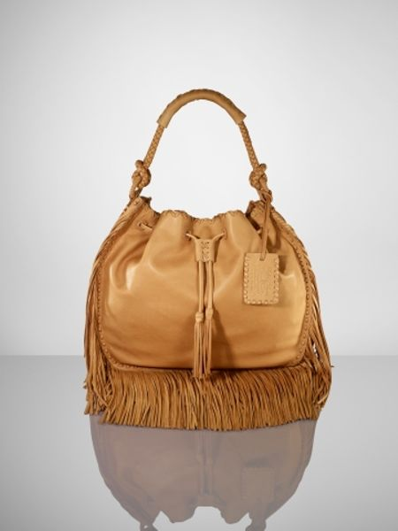 Case Design tory burch cell phone cases : Ralph Lauren Leather Fringe Hobo in Brown (tan) : Lyst