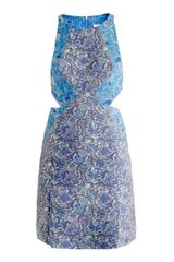 Richard Nicoll Silk Jacquard Dress - Lyst