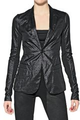 Rick Owens Shiny Silk Cotton Jacket - Lyst