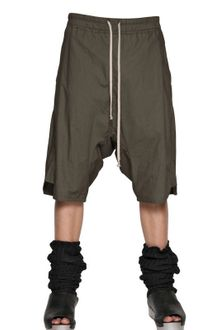 Rick Owens Cotton Poplin Long Rise Basket Shorts - Lyst