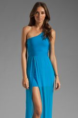 Stretta Siwy One Shoulder Maxi Dress - Lyst