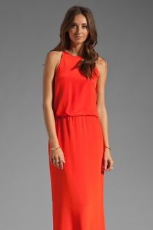 Tibi Solid Silk Long Halter Dress - Lyst