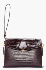 Alexander Wang Leather Reptile Lydia Clutch - Lyst